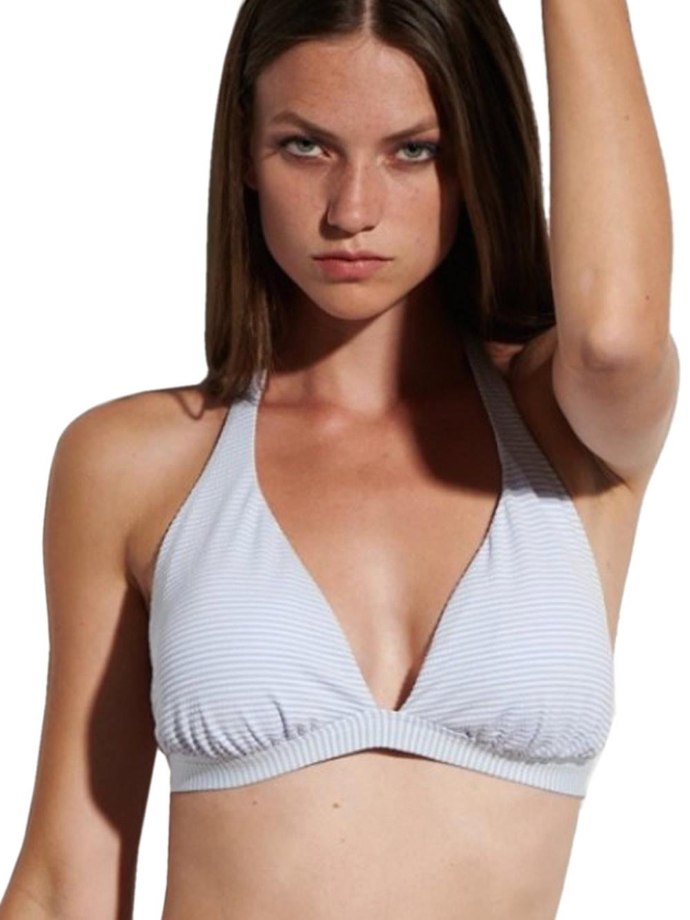Μαγιό BLU4U Girly Stripes Τρίγωνο για Μεγάλο Στήθος - Χωρίς Μπανέλα - Καλοκαίρι 2021