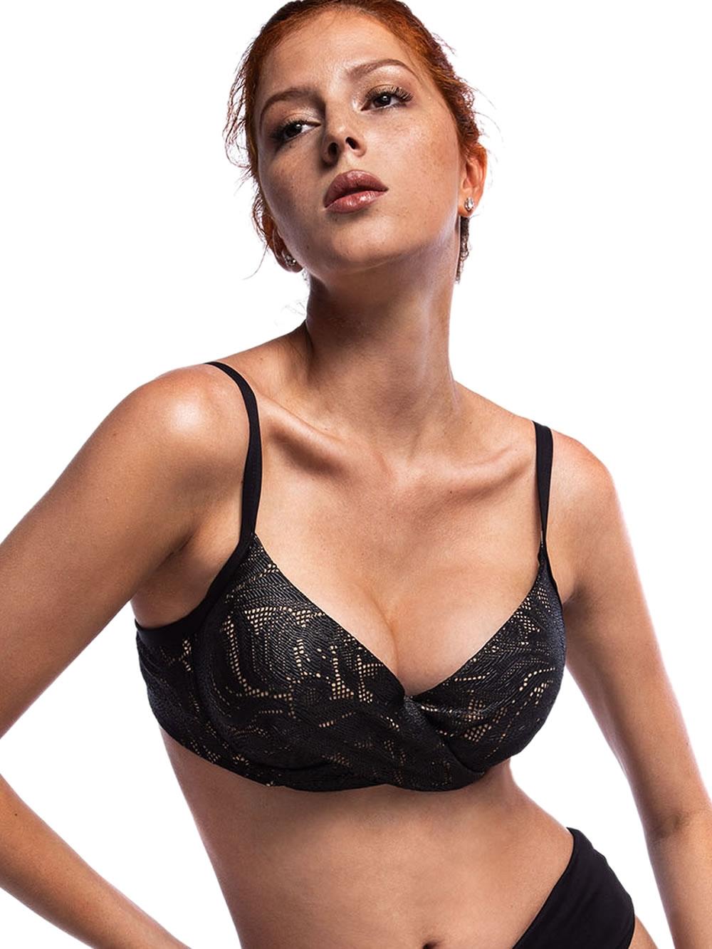Μαγιό BLUEPOINT Bra Black Lace - Μεγάλο Στήθος - Ενίσχυση & Μπανέλα