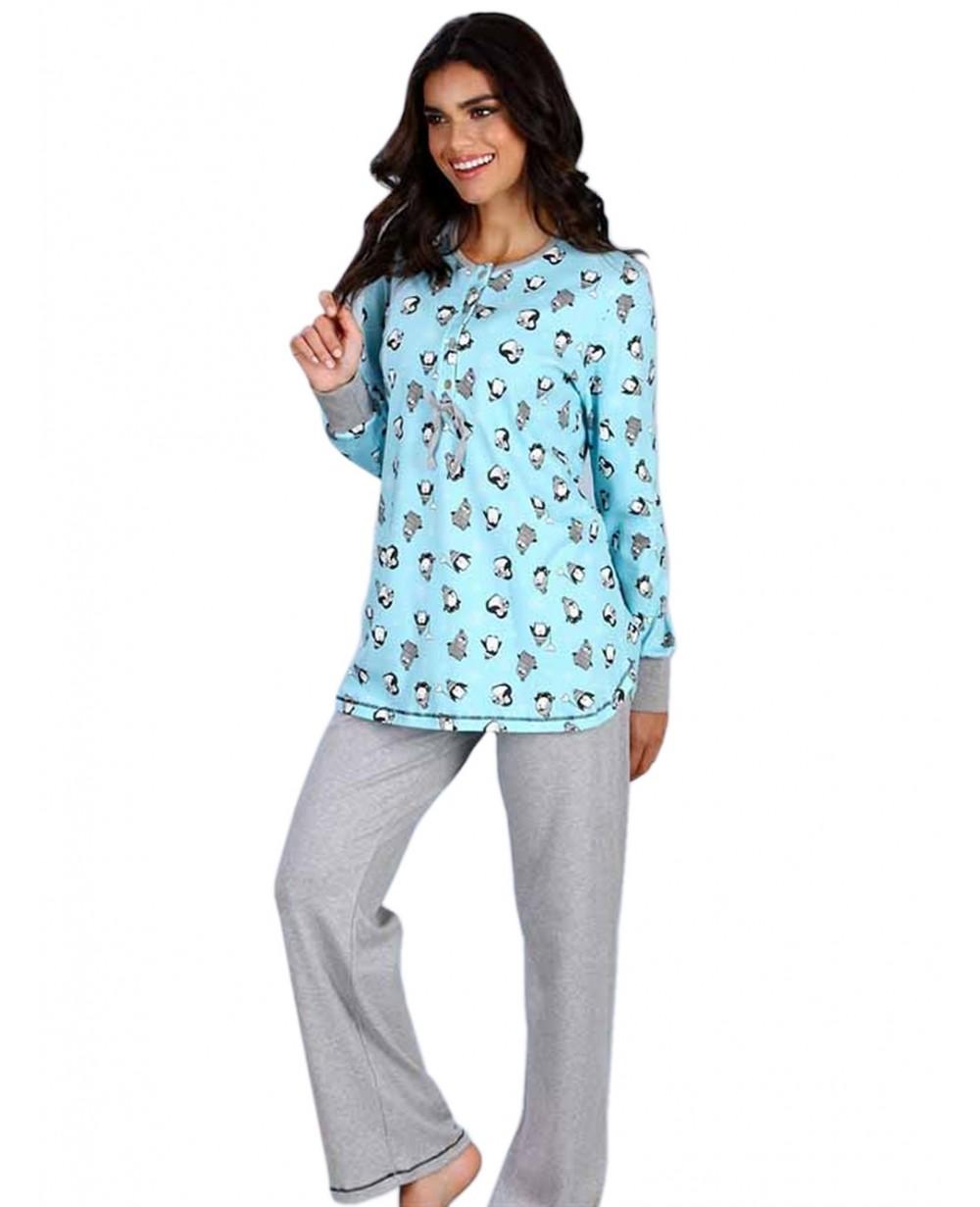 Πυτζάμα Γυναικεία Minerva Penguin - 100% Βαμβάκι Interlock - All ... 2451bcc8b87