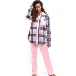 γυναικεία πυτζάμα bonne nuit 9739 pink μπροστά