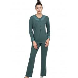 γυναικεία πυτζάμα giota 3046 green