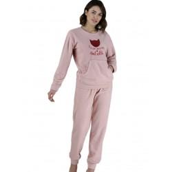 γυναικεία πυτζάμα fleece rachel 12220