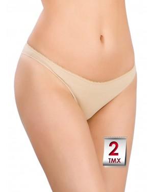 Miss Minerva Brazilian Slip Cotton Feel - 2 Τεμάχια - Απαλό Βαμβάκι