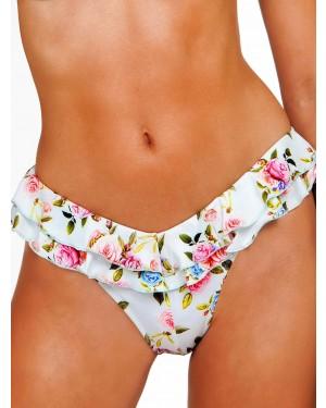 Μαγιό BLU4U Rose Buds - Bikini Κανονικό - Βολάν Ζώνη - Καλοκαίρι 2019