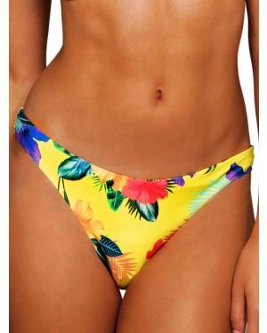 Μαγιό BLU4U Yellow Hibiscus - Hot Brazil - Χωρίς Ραφές - Καλοκαίρι 2019