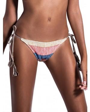 Μαγιό BLUEPOINT 906501 Bikini Κανονικό Κοφτό Sunset - Μεταλιζέ Πλεχτό Σχέδιο Lurex - Καλοκαίρι 2019