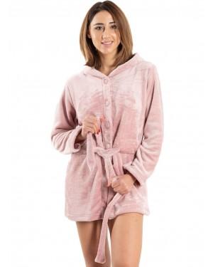 γυναικεία ρόμπα fleece bonne nuit 9518 μπροστά