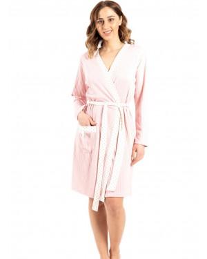 γυναικεία ρόμπα bonne nuit 9717 pink μπροστά