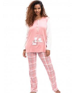 γυναικεία πυτζάμα bonne nuit 9719 pink μπροστά