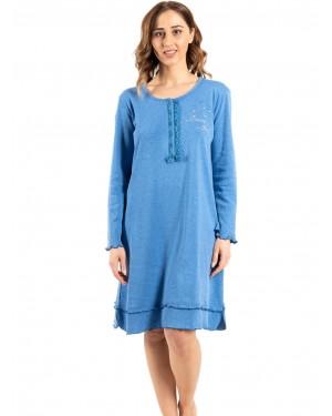 γυναικείο νυχτικό bonne nuit 9735 blue μπροστά
