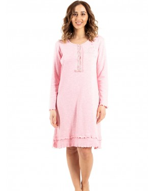 γυναικείο νυχτικό bonne nuit 9735 pink μπροστά