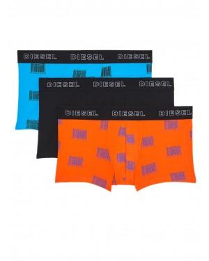 DIESEL Damien Boxer - Ελαστικό Βαμβάκι - Barcode Print - Πακέτο με 3 - Χειμώνας 2020/21