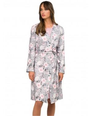 Ρόμπα ΓΙΩΤΑ Homewear - 100% Βαμβάκι Interlock - Floral Σχέδιο - Χειμώνας 2020/21