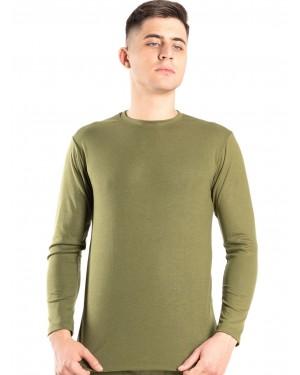 ανδρική ισοθερμική μπλούζα gkapetanis 9700 khaki μπροστά