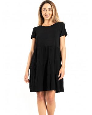 beachwear harmony 500614 black μπροστά