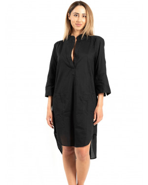 beachwear harmony 500615 black μπροστά