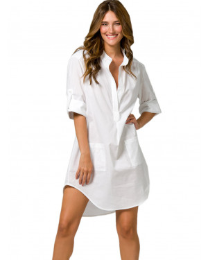 beachwear harmony 500614 white μπροστά