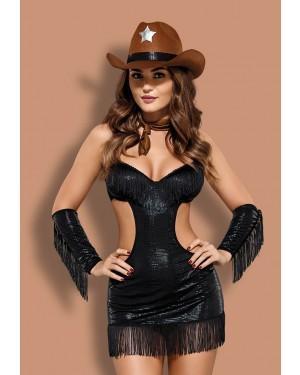 Obsessive SHERIFFIA Set με 5 - Φόρεμα - String - Καπέλο - Φουλάρι - Αξεσουάρ για τα χέρια
