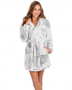 Ρόμπα Γυναικεία MINERVA Print - Ζεστό & Απαλό Fleece - Hot Pick 19/20