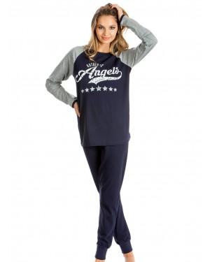 Πυτζάμα Γυναικεία MINERVA Angels - 100% Βαμβάκι Interlock - Sport & Glamour - Hot Pick 19/20