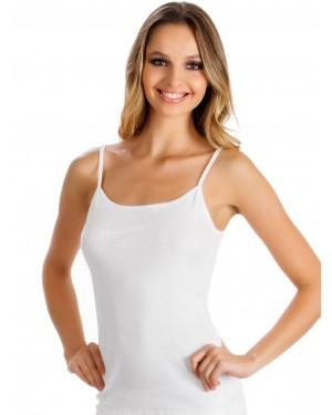 γυναικεία φανέλα minerva classic minerva 92201 άσπρη μπροστά