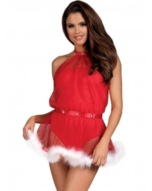 OBSESSIVE Santastic Dress - Διαφάνεια & Απαλό Σατέν