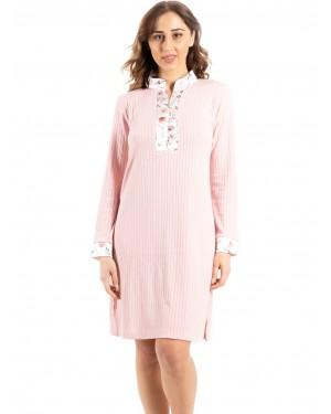 γυναικείο νυχτικό bonne nuit 9724 pink μπροστά