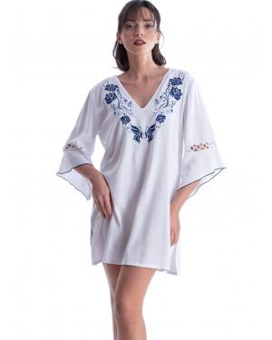 φόρεμα beachwear rachel 12596 μπροστά