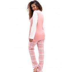 γυναικεία πυτζάμα bonne nuit 9719 pink πίσω