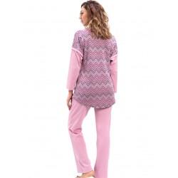 γυναικεία πυτζάμα bonne nuit 9729 pink πίσω