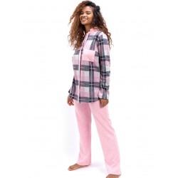 γυναικεία πυτζάμα bonne nuit 9739 pink πλάι
