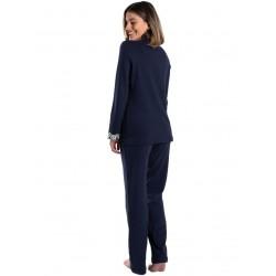 γυναικεία πυτζάμα giota 3034 blue πίσω