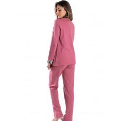 γυναικεία πυτζάμα giota 3034 pink πίσω