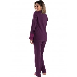 γυναικεία πυτζάμα giota 3046 purple πίσω