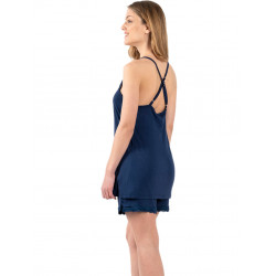 γυναικεία πυτζάμα koyote 6024 blue πίσω