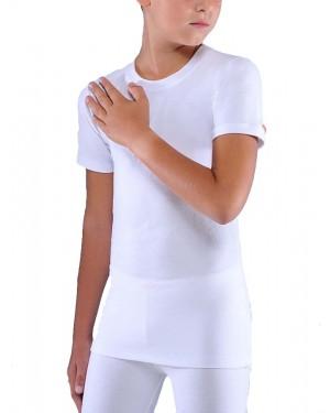 Helios Παιδικό Ισοθερμικό Φανελάκι με κοντό μανίκι - Προστασία από Κρύο - Λευκό & Μαύρο