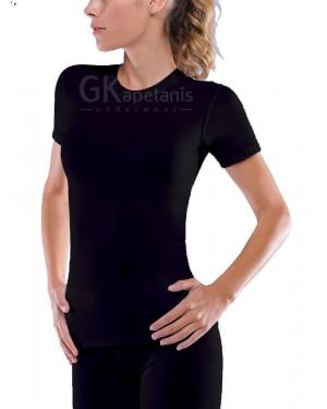 Helios Γυναικεία Ισοθερμική Μπλούζα με Κοντό Μανίκι - Προστασία από χαμηλές θερμοκρασίες
