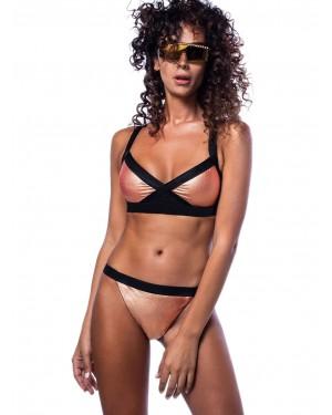 Μαγιό BLUEPOINT Copper Ψηλόμεσο Bikini - Μεταλιζέ Ύφασμα