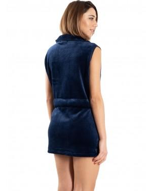 BONNE NUIT Ρόμπα Γυναικεία 9515 μπλε πίσω