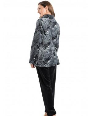 BONNE NUIT Πυτζάμα Πολυτελείας - Ζεστό Fleece - Animal Print - 9519
