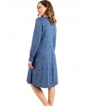 γυναικείο νυχτικό bonne nuit 9714 blue πίσω