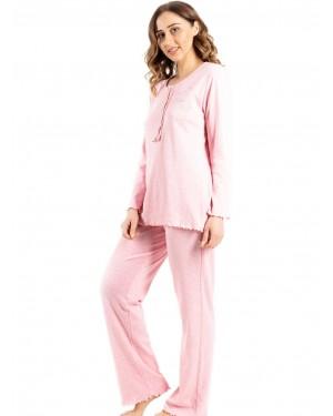 γυναικεία πυτζάμα bonne nuit 9734 pink πλάι