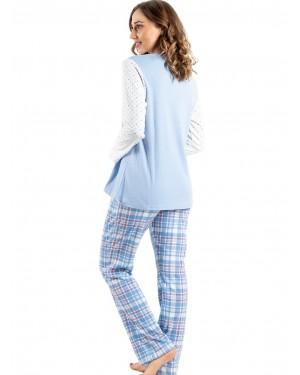γυναικεία πυτζάμα bonne nuit 9719 blue πίσω