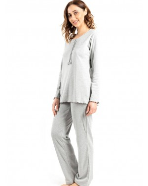 γυναικεία πυτζάμα bonne nuit 9734 grey πλάι