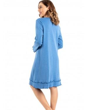 γυναικείο νυχτικό bonne nuit 9735 blue πίσω