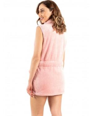 γυναικεία ρόμπα bonne nuit 9737 light pink πίσω