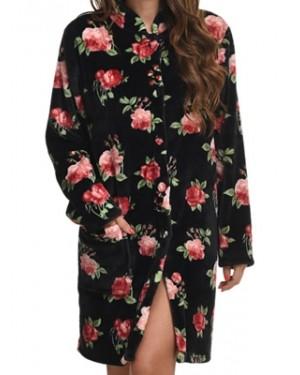 Ρόμπα Πολυτελείας BONNE NUIT - Γεμάτο Fleece - Floral Σχέδιο - Hot Pick 19/20