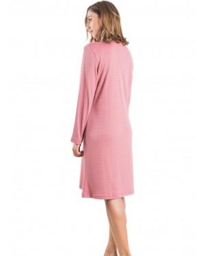 Νυχτικό ΓΙΩΤΑ Homewear - Γεμάτο Βαμβάκι - Dots Πουά Σχέδιο - 1421
