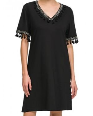 ΓΙΩΤΑ Γυναικείο Φόρεμα Beachwear - Αέρινο Ύφασμα Viscose - Σχέδιο Κέντημα