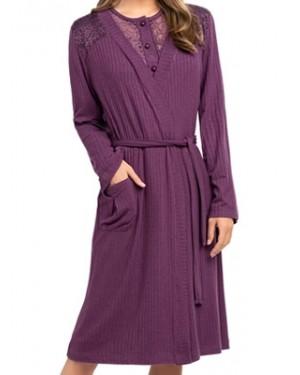 Ρόμπα ΓΙΩΤΑ Homewear - Γεμάτο Βαμβάκι - Δαντέλα - Χειμώνας 2020/21